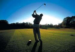 Silhouette of Golfer