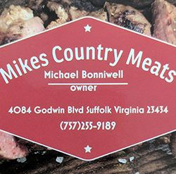 Sign at Mikes Country Meats