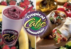 Tropical Cafe Smoothie Logo and Photo Collage