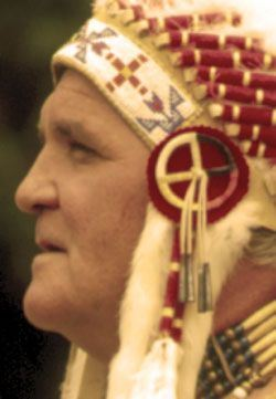 Native American Man in Headdress