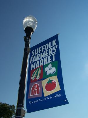 Suffolk Farmers' Market Sign